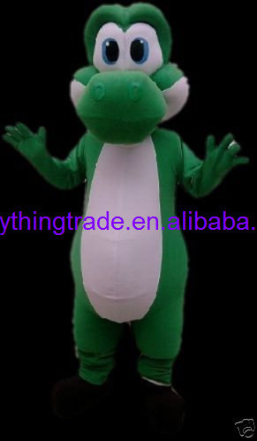 New arrival 2017 Cartoon Character Adult GREEN BABY DRANGON MASCOT COSTUME SUIT FANCY DRESS
