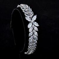 Nieuwe Trendy 2016 Unieke Jewelr Bladvorm Charm AAA + CZ Kristal Vrouwelijke Armbanden Armbanden Merk Sieraden Voor Vrouwen GLS0450