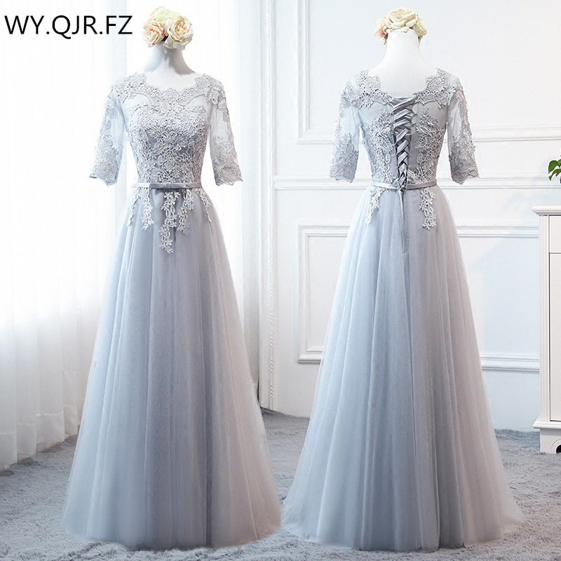 PTH-MNZ958#Bride Wedding Toast Grey Bridesmaid Dresses Long Medium Short Lace Up Wedding Prom Party Dress Cheap Wholesale Custom