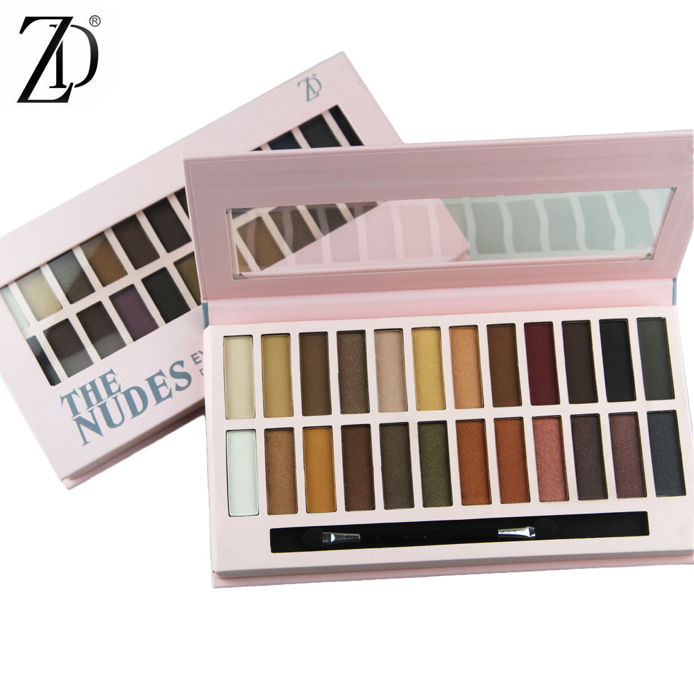 24 Full Colors Matte Eye Shadow Palette Pigment Glitter Eyeshadow Palettes Nude Shadows Cosmetics Eyes Shades Enhancer Makeup 9 full colors shimmer matte eye shadow palette pigment glitter eyeshadow palettes nude shadows cosmetics korean makeup eyes