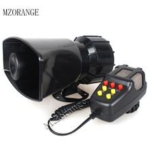MZORANGE 7 Tone megafon 12V 100W syrena policyjna Horn głośnik uniwersalny motocykl alarm samochodowy strażacy pogotowia megafon