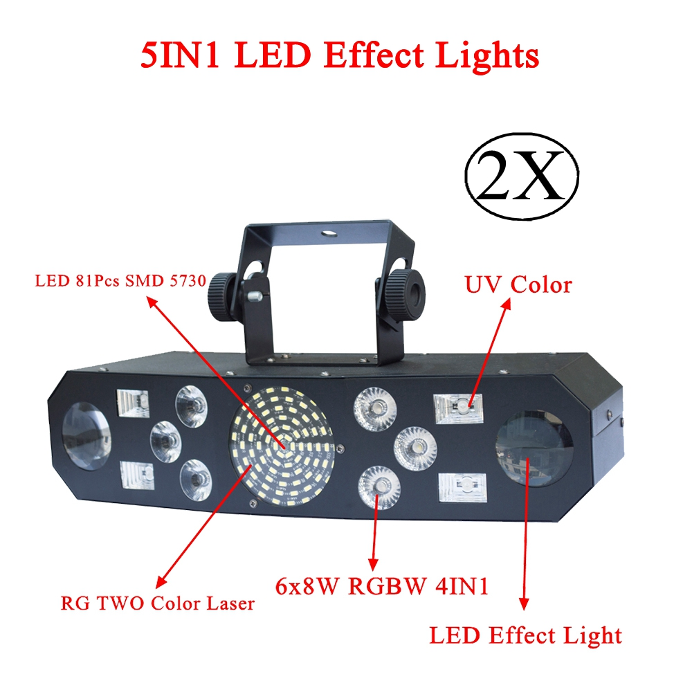New 5IN1 DJ Laser stage light Full Color RGB or 48 RG Patterns Projector 4X3W UV