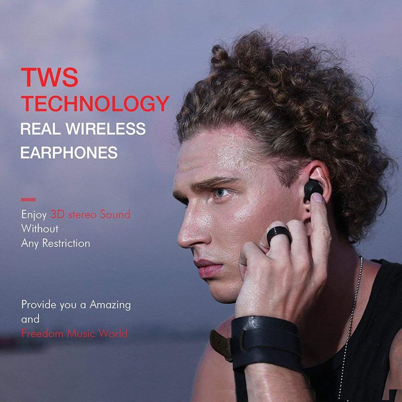 Havit TWS Bluetooth Earphone True Wireless Sport Earphone Waterproof Stereo Earbuds With Microphone for Handsfree Calls Headsets sport running bluetooth earphone for lg g3 beat earbuds headsets with microphone wireless earphones