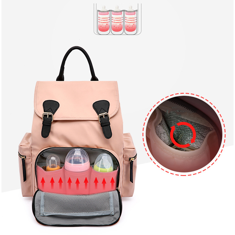 2019 new fashion multi function shoulder Mummy bag Insulation travel maternal and child package Waterproof fashion diaper bag in Diaper Bags from Mother Kids