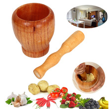 цены на Wooden pound garlic garlic mixers wood pound mortar wooden household pound garlic wholesale  в интернет-магазинах