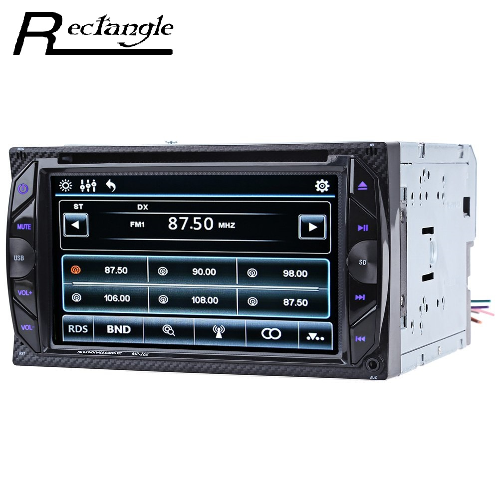 6.2 inch Car Audio Digital Touch Screen Double Din Car 32GB DVD Player Bluetooth V3.0 Hands Free Calls SD USB FM Auto Radio 12v stereo 1 din car multimedia player fm radio mp3 mp4 player 3 6 inch touch screen bluetooth hands free calls sd usb charger
