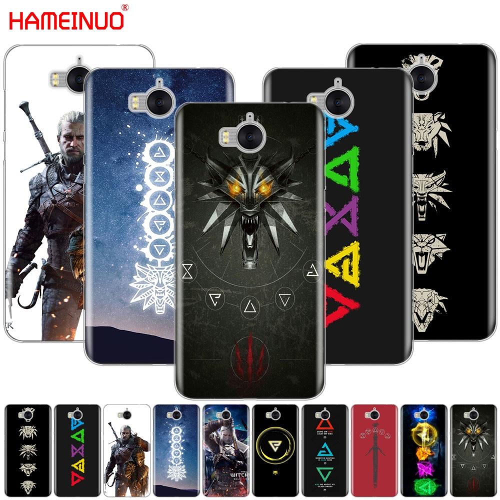Hameinuo Ведьмак 3 Дикая Охота знаки сотового телефона чехол для <font><b>Huawei</b></font> <font><b>Honor</b></font> 3C 4A 4x 4c 5&#215;6 7 8 Y6 Y5 2 II Y560 Y7 2017