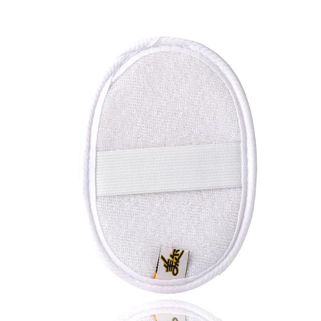 1pc Soft Exfoliating Loofah Natural Sponge Strap Handle Shower Massage Brush Skin body Bathing washing Accessories