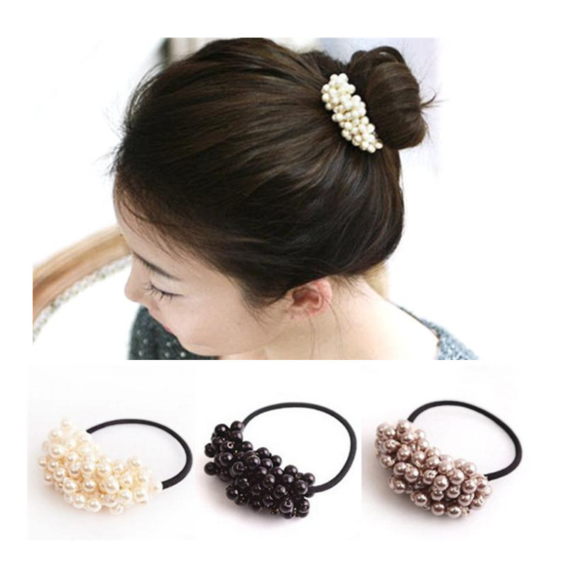 1PC Sale Fashion Pearl Hair Band Elastic Hair Ties Ornaments Girls Womens Hair Accessories Hair Ropes Ponytail Bands IN STOCK