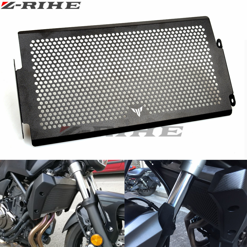Motorcycle Radiator Guard Protector Grille Grill Cover Stainless Steel Radiator Grill Cover For YAMAHA MT07 FZ07 FJ07 2014-2016 motorcycle stainless steel radiator guard protector grille grill cover for kawasaki z750 2010 2011 2012 2013 2014 2015 2016