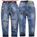 4003 regular jeans pantalones de los muchachos suaves pantalones de mezclilla niños de la manera pantalones vaqueros chico luz azul de primavera y otoño de los niños cothing nueva 2017