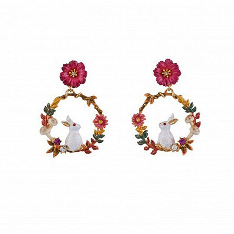 Oliver B Double Circle Drop Earrings Mustard Grey Pink Smooth 925 Silver Stud UK