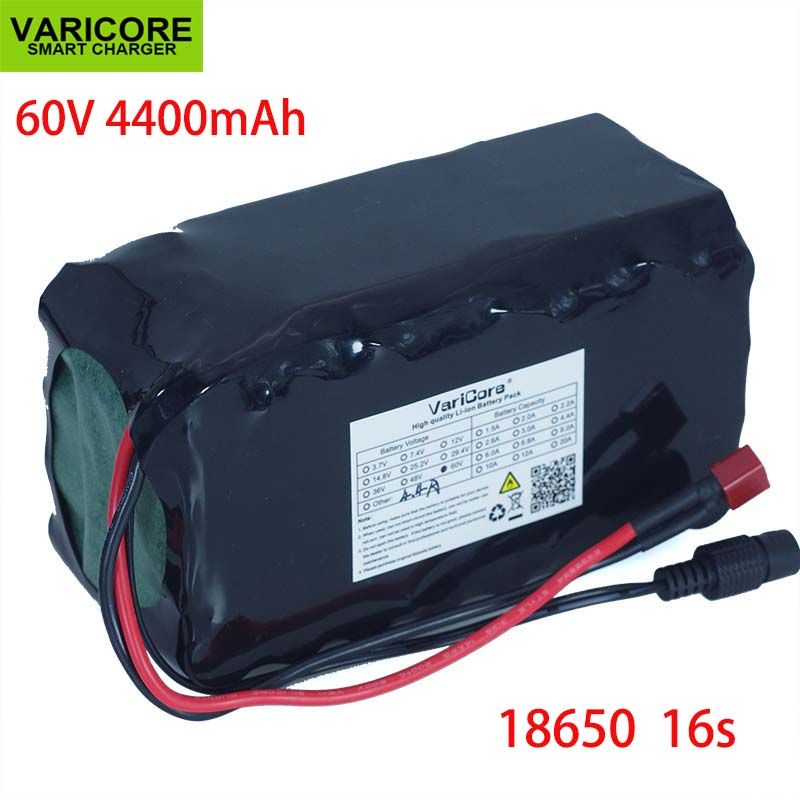60 v 16S2P 4.4Ah 18650 Li-ion batterie Pack 67.2 v 4400 mah Ebike bicicleta Scooter électrique com BMS descarga 20A 1000 Watt