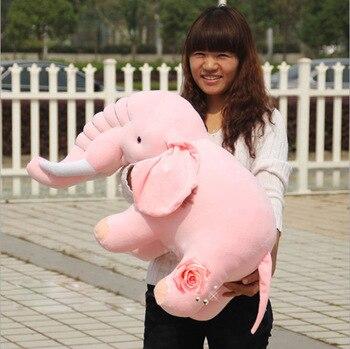 big lovely elephant toy new creative pink elephant doll simulaiton elephant toy gift about 70cm