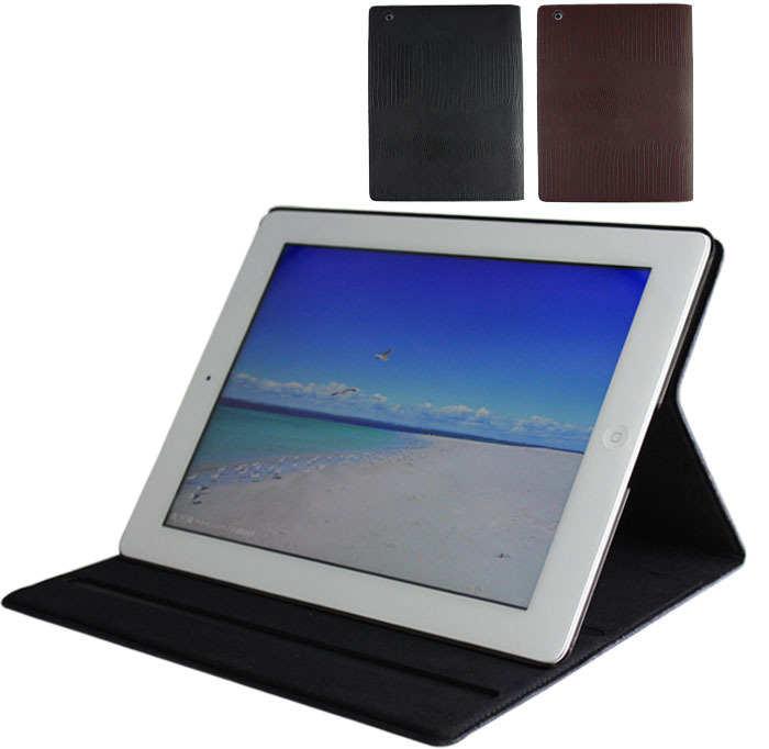 1 Piece Real Leather Case Smart Sleeping Auto Power Off Case For Apple iPad 4 The New iPad iPad 3 Free Shipping!