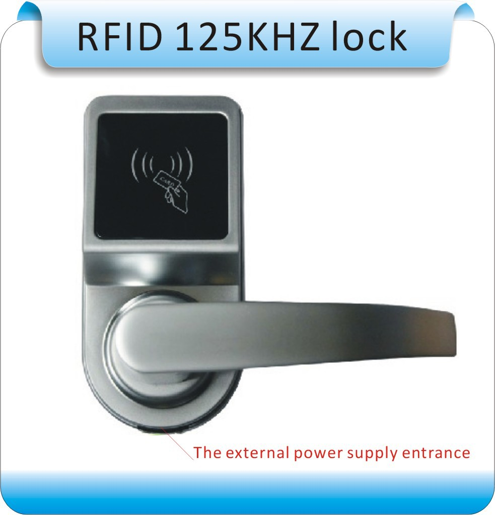 2014 newset DIY RFID 125KHZ ID card Electronic lock/single tongue intelligent electronic locks+20pcs key card