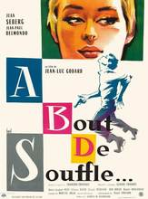 EEN BOUT DE SOUFFLE VINTAGE MOVIE SILK POSTER muurschildering 24x36 inch(China)