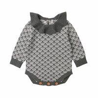 Baby Girl Bodysuits Newborn Clothes Autumn Winter 2018 Long Sleeve Knitted Bodysuit New Born Onesize Infantil Menina Body Suit