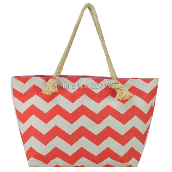 Aliexpress.com : Buy Chevron Tote Bag With Cell Phone Pocket ...