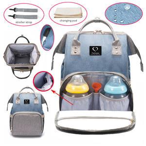Сумка для подгузников, рюкзак с usb-разъемом, водонепроницаемая сумка для подгузников, дорожная сумка для кормления, сумка для детской коляск...