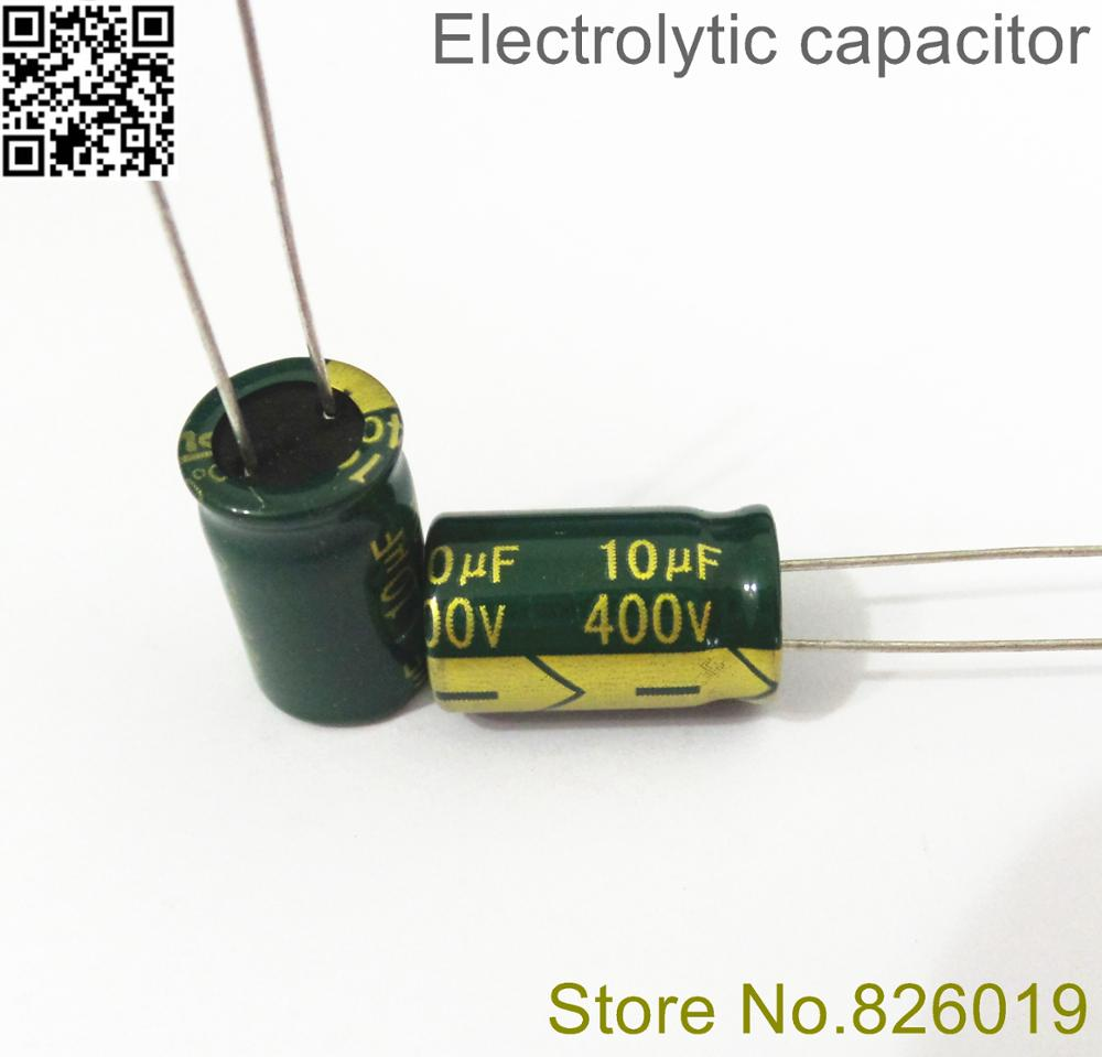 12pcs lot 400V 10uf high frequency low impedance 10 17 20 RADIAL aluminum electrolytic capacitor 10000NF