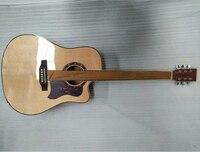 Одежда высшего качества ель шпон Акустическая гитара народная гитара 41 дюймов Rock фолк группа звук Полный Бесплатная доставка AGT02