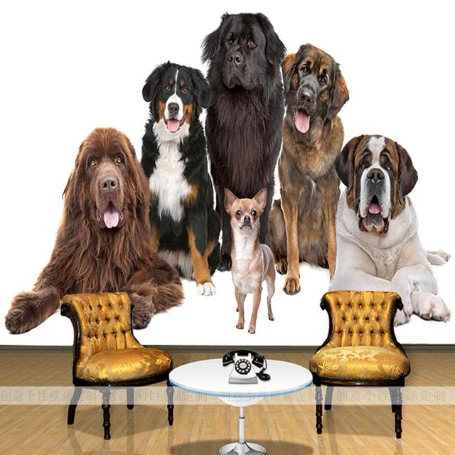 Custom 3D Photo Wallpaper Pet Store Dog Mural Living Room Bedroom Background