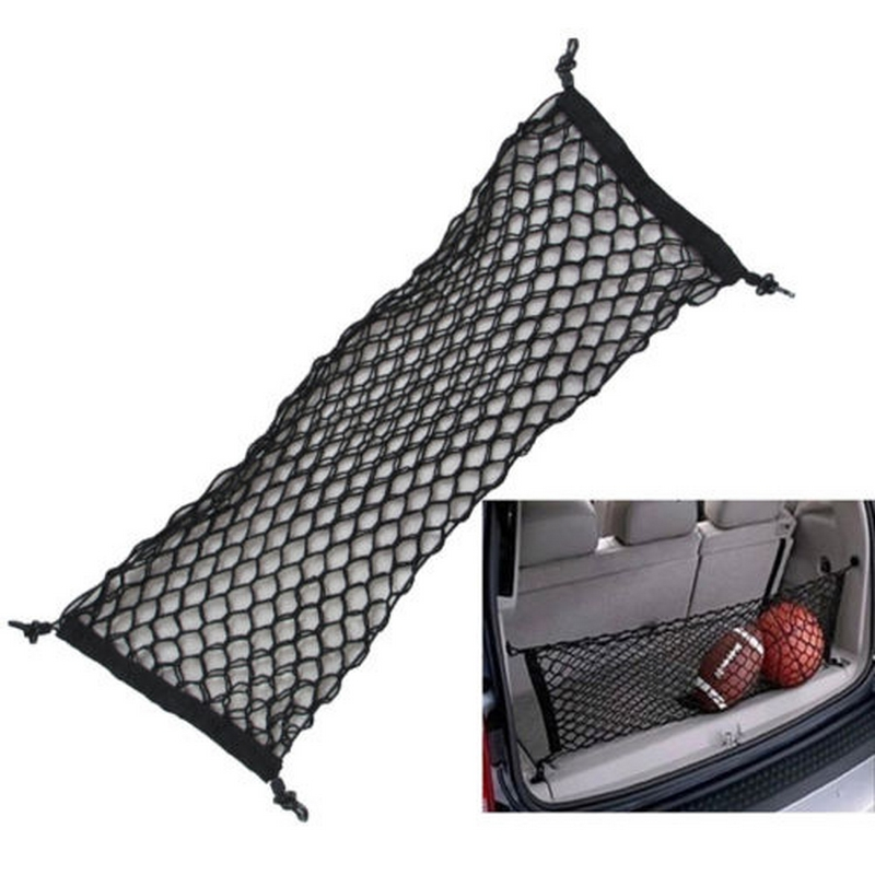 Image 3 - 90cm x 40cm Car Seat Back Storage Mesh Elastic Net Bag Double Layer Vertical Shielding Net Trunk Organizer Protected Rear Door-in Stowing Tidying from Automobiles & Motorcycles