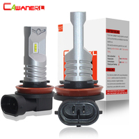 Cawanerl 2 Pieces H8 H9 H11 Car LED Fog Light Bulb Daytime Running Lamp DRL 80W