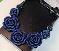 Урожай Элегантный Шарм Популярные Кружева Ленты Большой Цветок Розы Ожерелье Для Женщин Поддельные Воротник 248