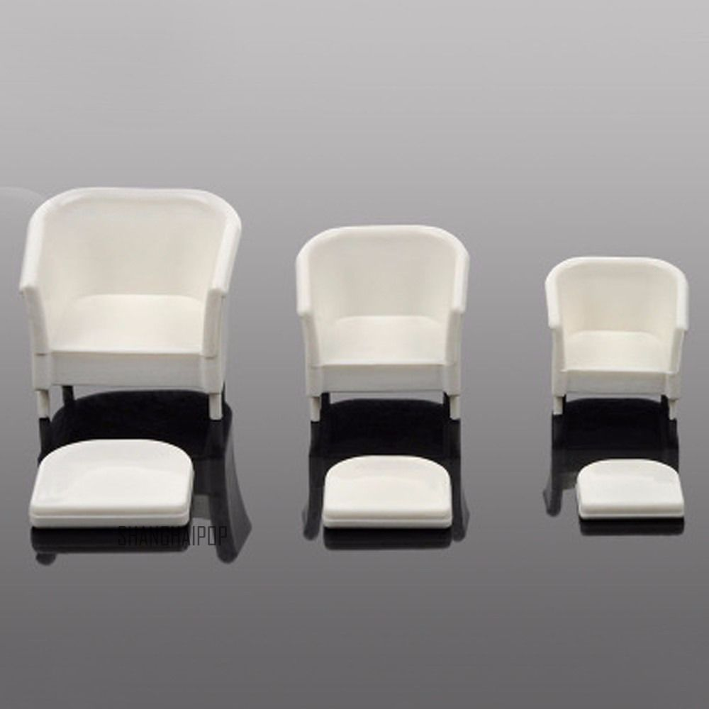 2 x miniature doll house arm chair sofa settee furniture model decor 1 20