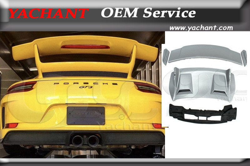 Car-Styling NEW Arrival FRP Fiber Glass Rear Trunk GT Spoiler Fit For 2016-2018 911 991.2 Carrera & S GT3-Style GT Wing Spoiler