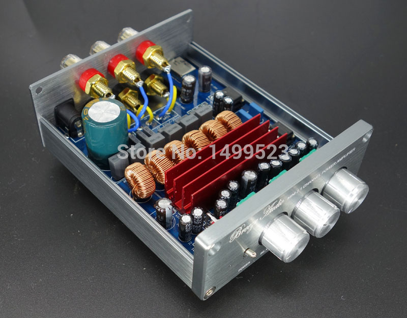 HIFI 2.1 high-power digital power amplifier TPA3116 D2 50W*2+100W free shipping free shipping czh618f 100c 100w 2u fm stereo radio transmitter exciter power adjustable from 0 to 100w