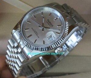 Image 3 - Мужские наручные часы Parnis, автоматические светящиеся часы с сапфировым кристаллом, 36 мм, 21 ювелирное изделие, 5Bar, 10A, 2017