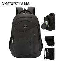 ANOVISHANA Men Laptop Backpacks For Teenager Male Mochila Leisure Travel backpack Notebook Mochila for Men Waterproof Back Pack