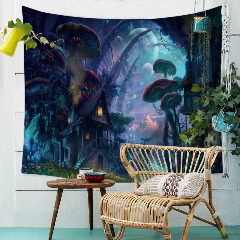 e44641f274db US $5.44 27% OFF|Universe Planet Tapestry Outer Space Polyester Wall  Hanging Decor Bohemian Tapestry Psychedelic Wall Art for Bedroom Living  Room-in ...