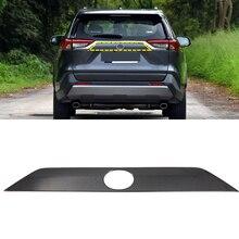 لتويوتا RAV4 2019 2020 abs اكسسوارات السيارات السيارات الخلفي الجذع الذيل بوابة غطاء صب غطاء الكسوة 1 قطعة