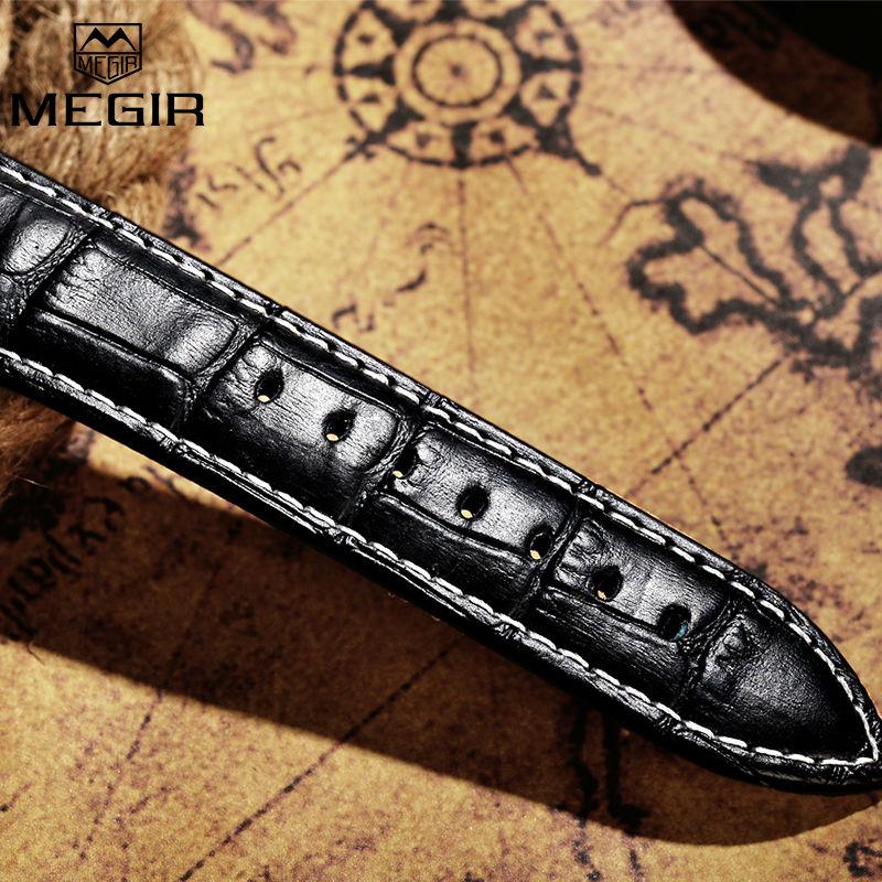 MEGIR Original Watch Strap Accessories Leather Silicone Stainless Steel Canvas