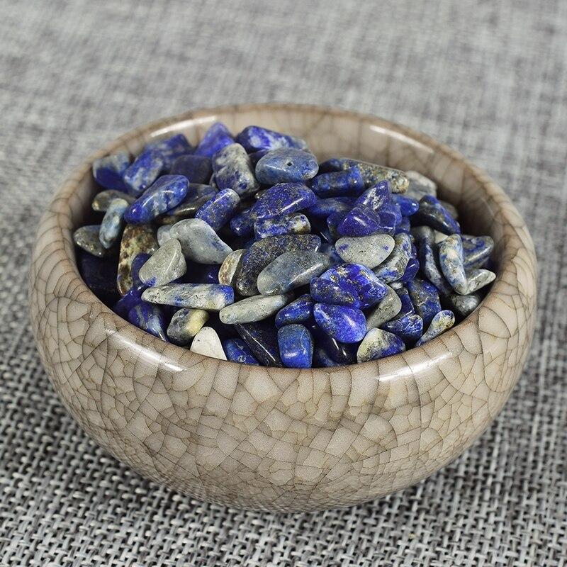 Extra 10 gramů přírodních krystalů zdarma Léčení Reiki Lapis lazuli Chip Stone Gemstone Tumbled Stone Fontána Dekor Zahradní minerál