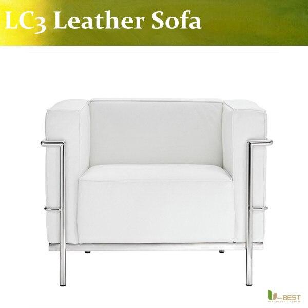 U BEST LC3 Chaise par Le Corbusier Fauteuil Italien Salon Moderne