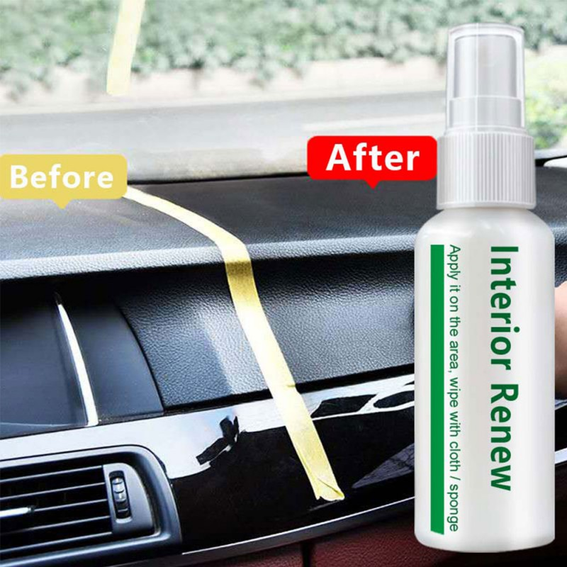 Car Refurbished Agent Interior Trim Leather Plastic Care Maintenance Cleaner 10/20/50ml