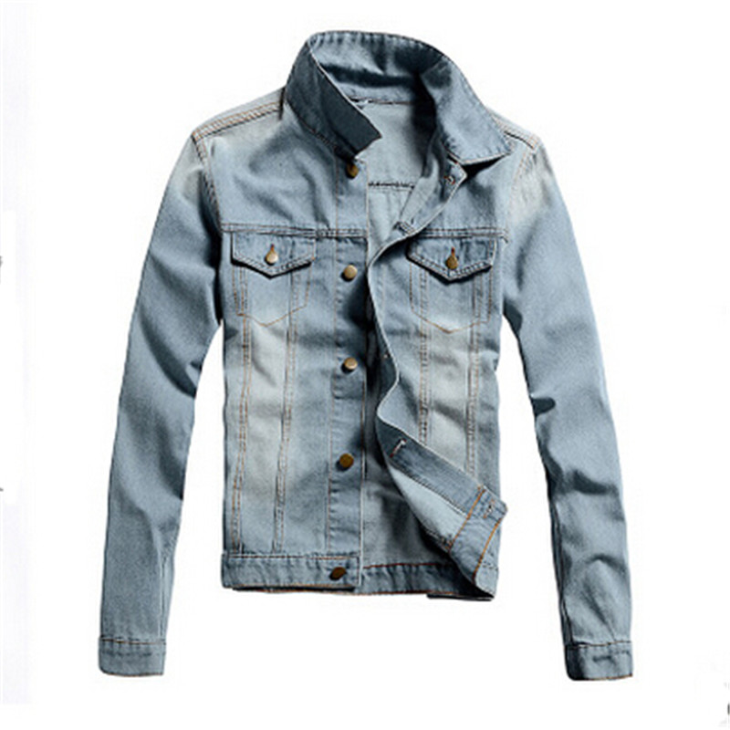 2016 Tops Jacket Men Jean jacket Denim jacket Latest Leisure ...