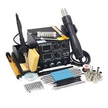GORDAK 868D Интеллектуальный 3 в 1 антистатический горячий воздух двойной цифровой горячий воздушный пистолет паяльная станция USB зарядка мобильного телефона
