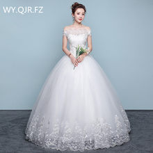 98c2a9cb106f XXN070 Ball Gown Boat Neck plus size lace up white wedding party dress  Pregnant woman cheap wholesale long dresses Custom dress