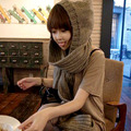 Female Collar Fashion Super Thick Long Hooded Knitting Scarf Warm Scarf and Cap of New Fund of 2017 Autumn Winters