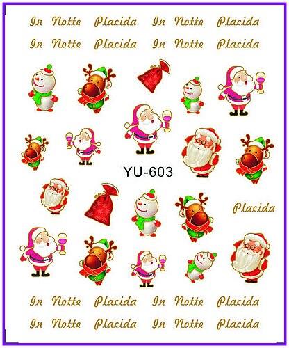 1x Nail Sticker Cute Xmas Santa Clause Water Transfers Stickers Nail Decals Stickers Water Decal Opp Sleeve Packing Yu605 Nails Art & Tools