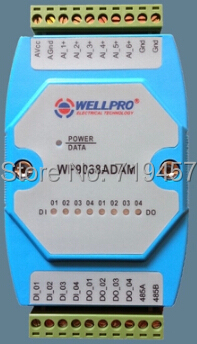 El envío de múltiples funciones de adquisición de datos módulo de control 6AI / 4DI / 4DO RS485 MODBUS