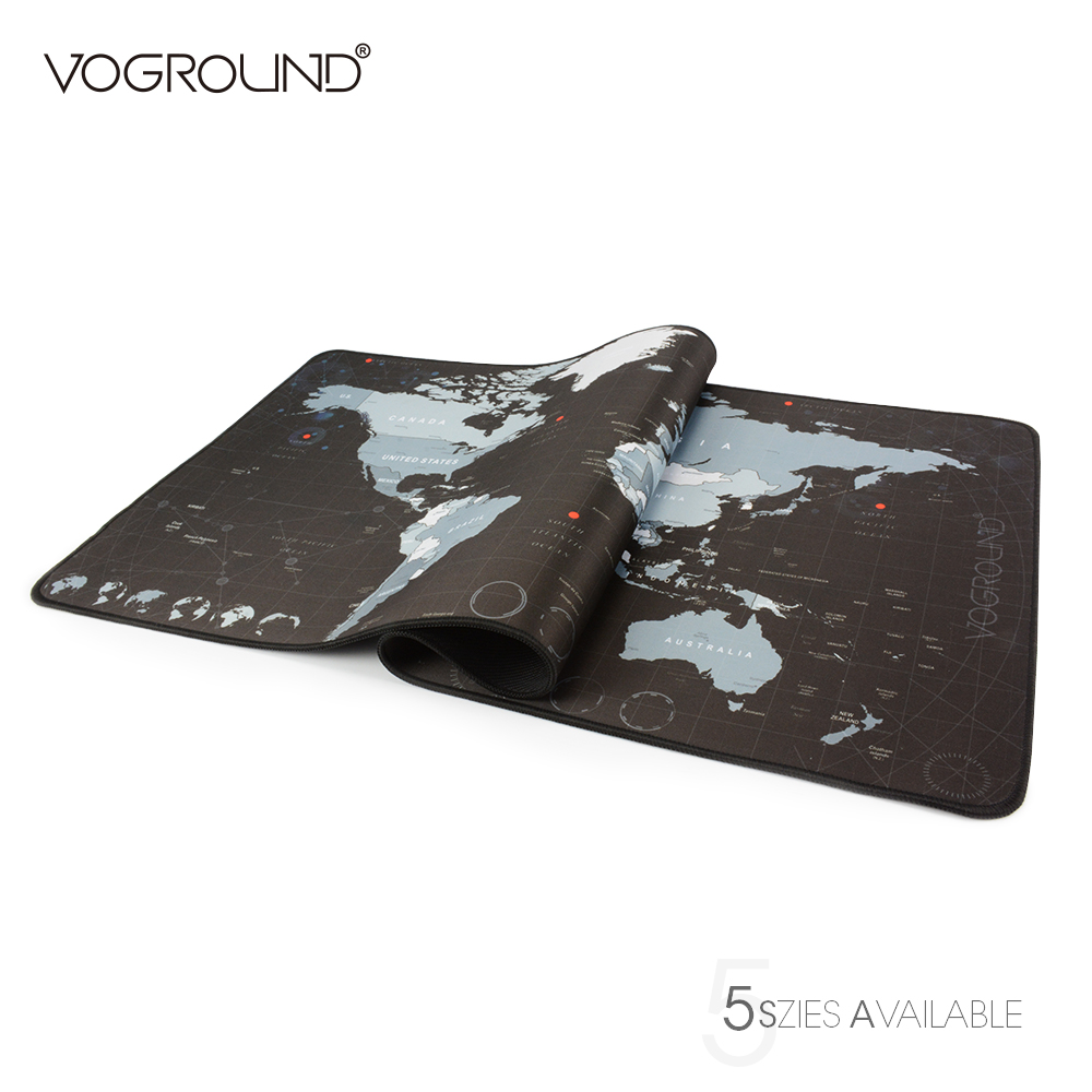 VOGROUND Locking Edge Super Large Size Optional Mouse Pad Natural Rubber Waterproof Desk Gaming Mousepad Mat for csgo dota 2 LOL metal adjustable arm rest wrist support extended mousepad rotation ergonomic mouse pad shoulder protect for office game