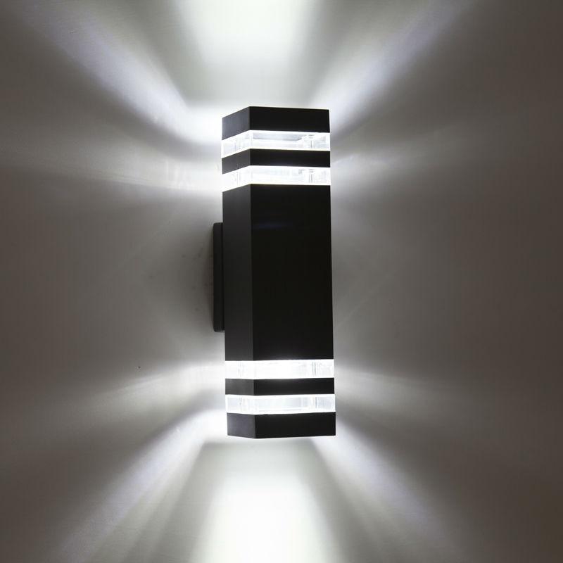 lampadas de parede conduzidas impermeaveis exteriores modernas ac90 260v com 2 pces 5 w lampadas led