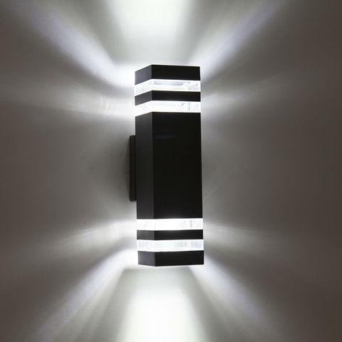lampadas de parede conduzidas impermeaveis exteriores modernas ac90 260v com 2 pces 5 w lampadas
